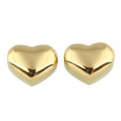 Korálek srdce 10,5 x 9 gold galvanizace
