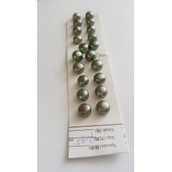Sladkovodní perla polovrtaná 9,5mm Army Green