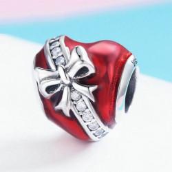 Červené srdce se zirkony AG 925/1000