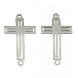 Konektor prořezávaný křížek z chirurgické ocelive dvou barevných variantách