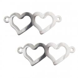Konektor spojená srdce z chirurgické oceli ve dvou barevných variantách