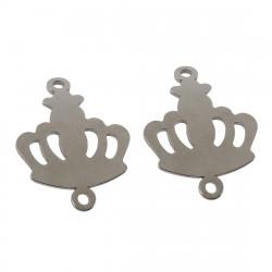Konektor královská koruna z chirurgické oceli ve dvou barevných variantách