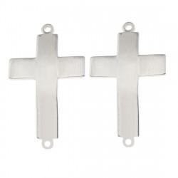 Konektor křížek z chirurgické oceli ve dvou barevných variantách
