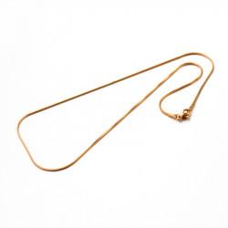 Řetízek z chirurgické oceli HADINKA Průměr 1,2mm délka 45cm zlatá galvanizace