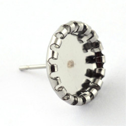 copy of Stainless Steel Cabochons Ear Stud Components