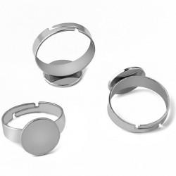Prsten s ploškou z chirurgické oceli různé velikosti