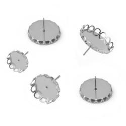 Puseta s ozdoným okrajem z chirurgické oceli vnitřní průměr 12mm