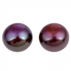 Perla sladkovodní polovrtaná tmavě modrá 8,5-9mm