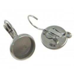 Náušnice mechanická s miskou 10mm chirurgická ocel