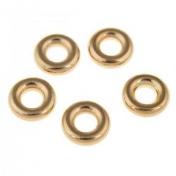 Ozdobný kroužek z chirurgické oceli ve zlaté galvanizaci