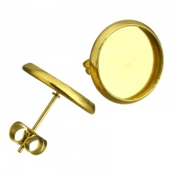 Puseta lůžko kruhový tvar 12mm ve zlaté galvanizaci z chirurgické oceli